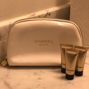 *USED* Chanel Makeup Bag & 3 Travel Size Crème
